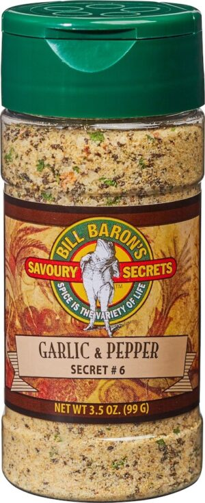 Garlic & Pepper Savory Secrets All Purpose Seasonings Shakers